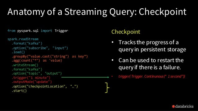 Writing Continuous Applications with Structured Streaming in