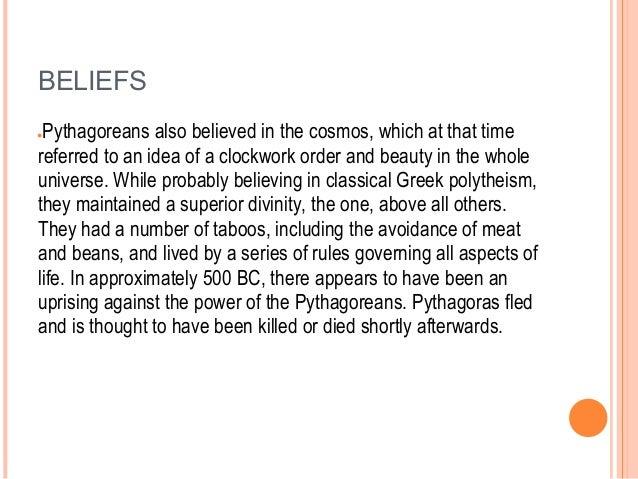 A description of the life and beliefs of pythagoras of samos