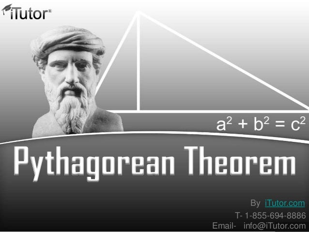 Pythagorean Theorem T- 1-855-694-8886 Email- info@iTutor.com By iTutor.com