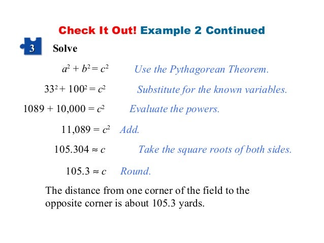 Pythagoras theorem ppt for Square root of 1089
