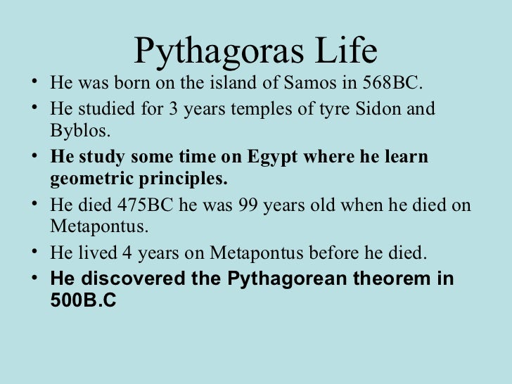an analysis of pythagorean theorem Apply the pythagorean theorem to real world and mathematical situations find the distance between 2 points on a coordinate plane using the pythagorean theorem.