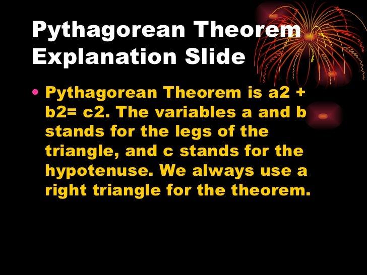 Pythagorean theorem and distance formula power point Slide 2