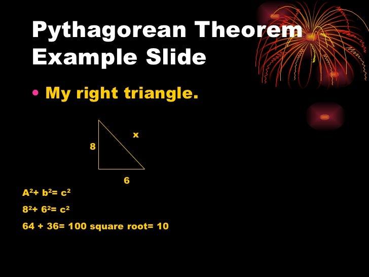 Pythagorean theorem and distance formula power point Slide 3