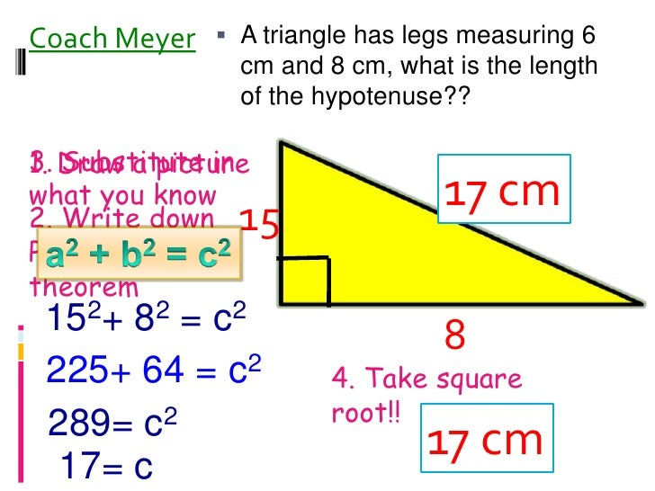 Pythagorean Theorem Day 1