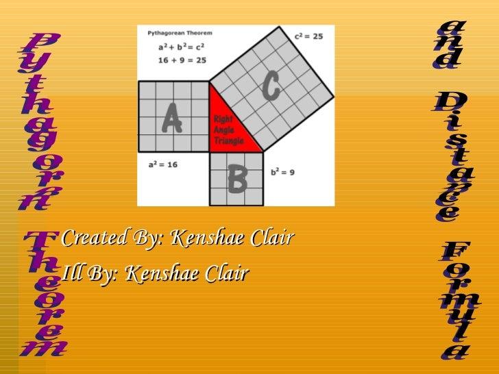 Created By: Kenshae Clair Ill By: Kenshae Clair Pythagoren Theorem and Distance Formula