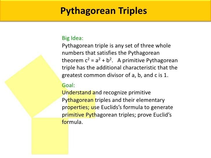Pythagorean triples big idea: Ppt video online download.