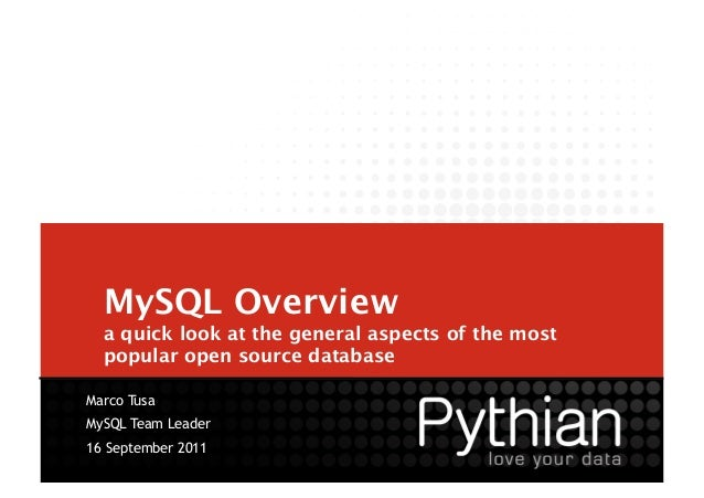 MySQL Overview 
