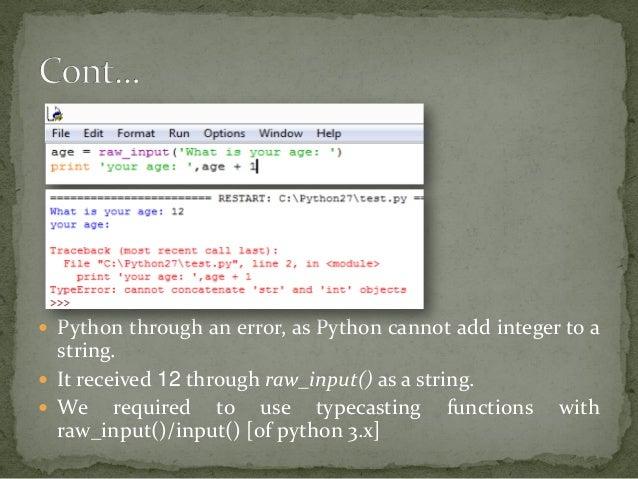 Python-02  Input, Output & Import