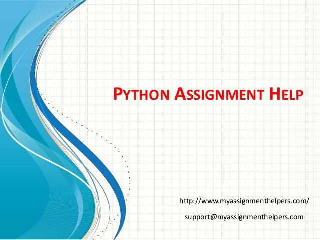 python assignment help Need assignment is offering python assignment help and python project help at your desktop order now and relax from work.