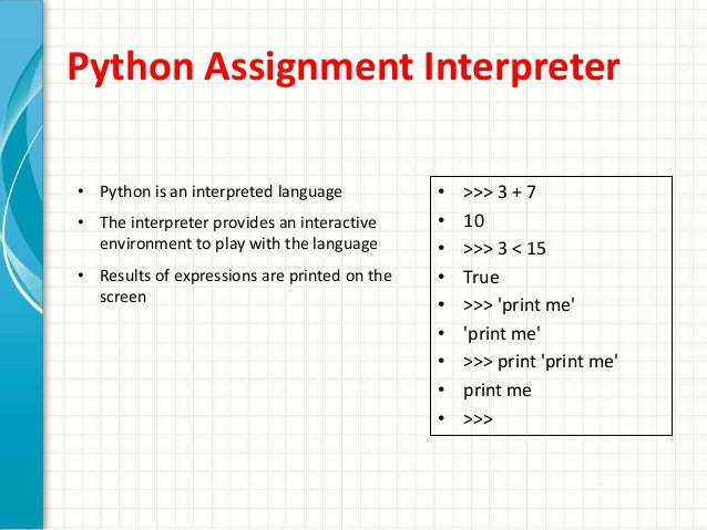 Python list assignment