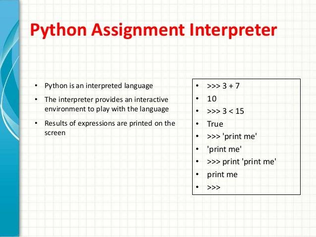 Python Assignment Operators Example