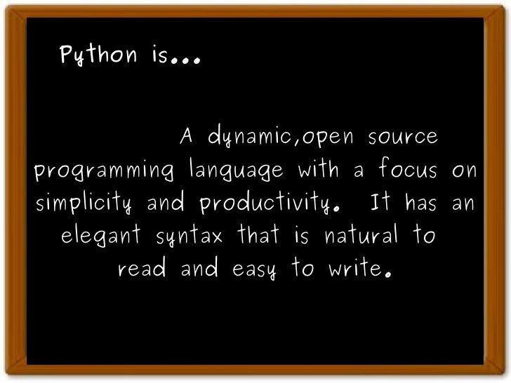 write a simple class program in python