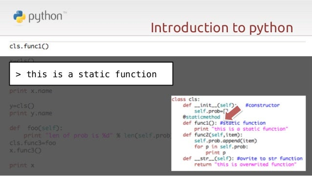 Python: The Dynamic!