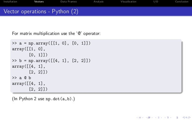 Python for R developers and data scientists