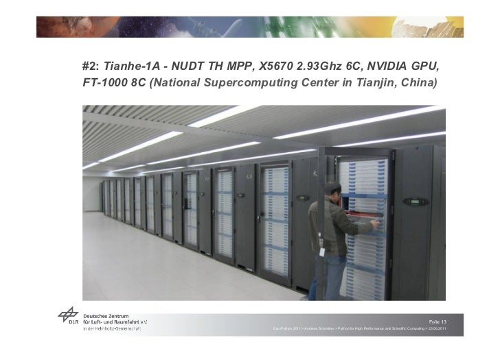 #2: Tianhe-1A - NUDT TH MPP, X5670 2.93Ghz 6C, NVIDIA GPU,FT-1000 8C (National Supercomputing Center in Tianjin, China)   ...
