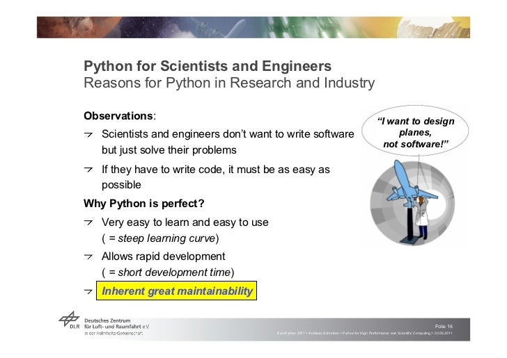 Python for Scientists and EngineersReasons for Python in Research and IndustryObservations:                               ...