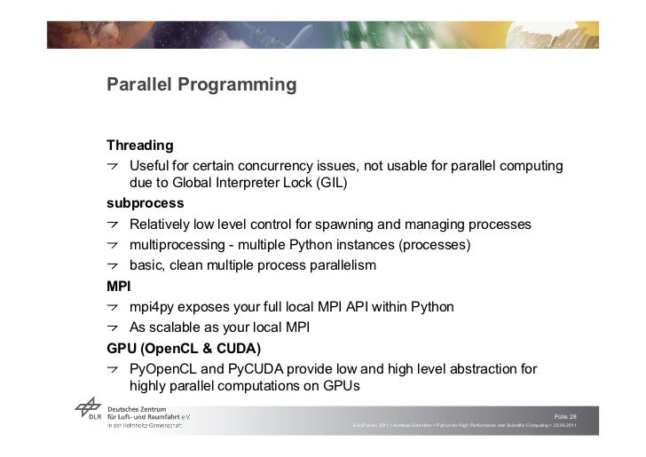 """Parallel ProgrammingThreading! """"Useful for certain concurrency issues, not usable for parallel computing   due to Global I..."""