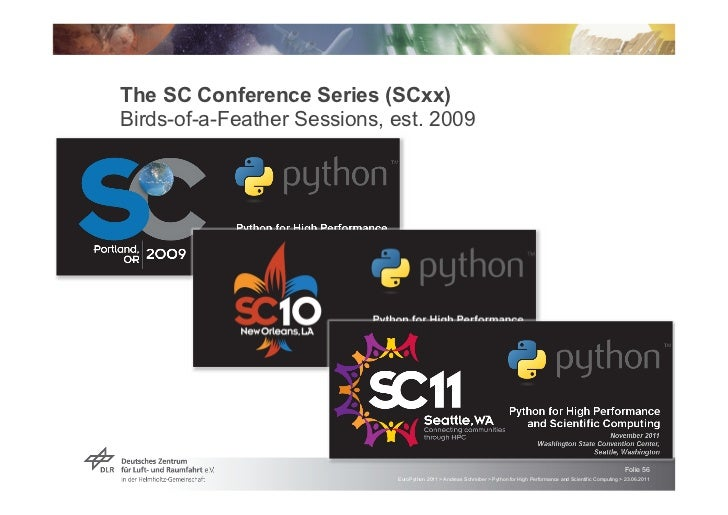 The SC Conference Series (SCxx)Birds-of-a-Feather Sessions, est. 2009                                                     ...