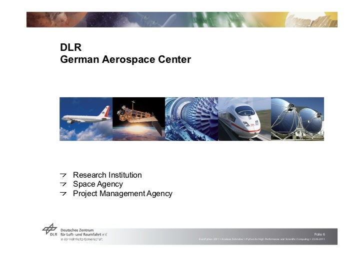 """DLRGerman Aerospace Center!   """"Research Institution!    """"Space Agency!     """"Project Management Agency                     ..."""