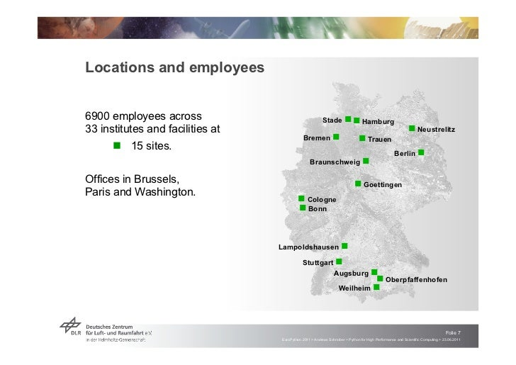 Locations and employees6900 employees across                                    Stade ! ! Hamburg33 institutes and facilit...