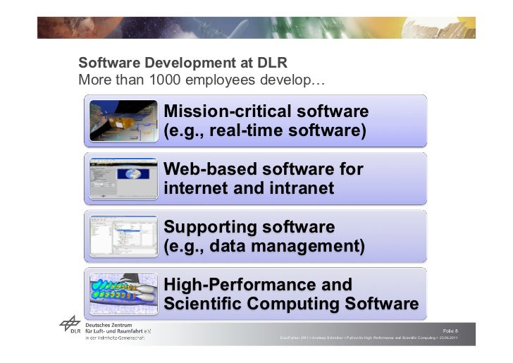 Software Development at DLRMore than 1000 employees develop!           Mission-critical software           (e.g., real-tim...