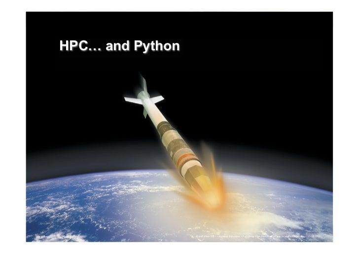 HPC! and Python                                                                                                           ...