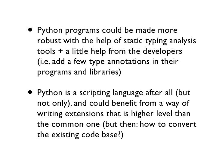 Four Python Pains