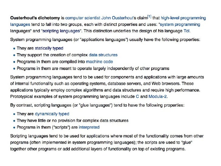 Or maybe Python is ascripting language after all ?