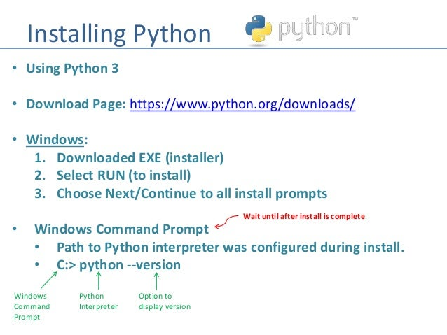 Python - Installing and Using Python and Jupyter Notepad