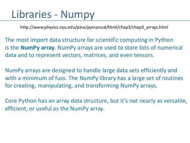 Python - Numpy/Pandas/Matplot Machine Learning Libraries