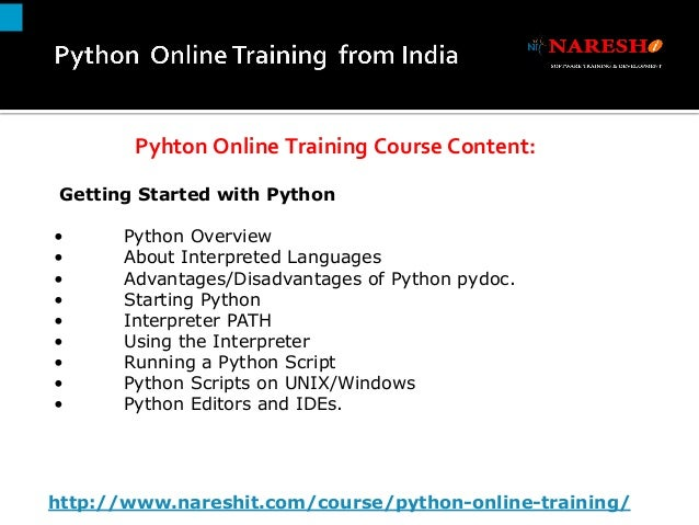 Python Online Training in India By Real-Time Experts