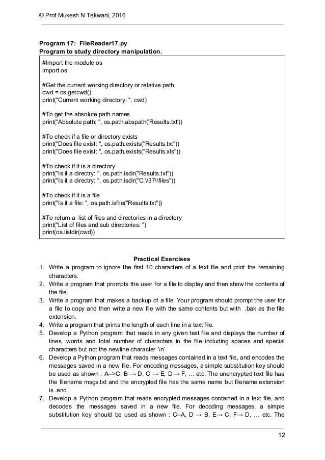 Python - Files I/O