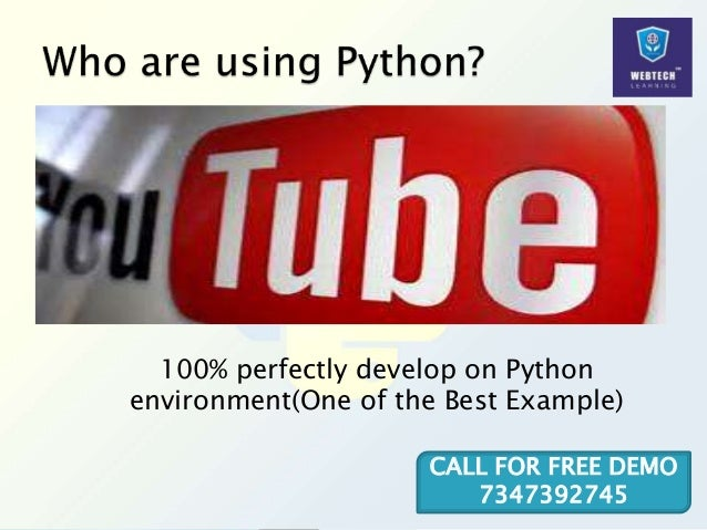 100% perfectly develop on Python environment(One of the Best Example) CALL FOR FREE DEMO 7347392745