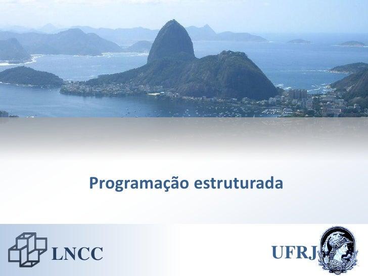 Programação estruturada   LNCC                   UFRJ