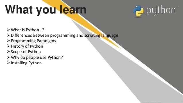 Introduction to python Slide 2