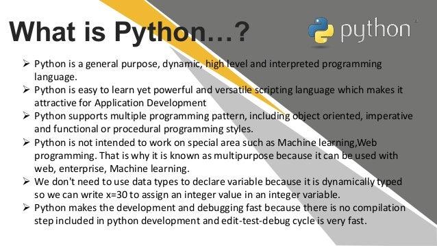 Introduction to python Slide 3
