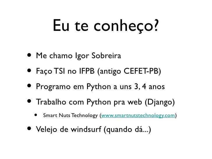 Python - Programando em alto nível Slide 2