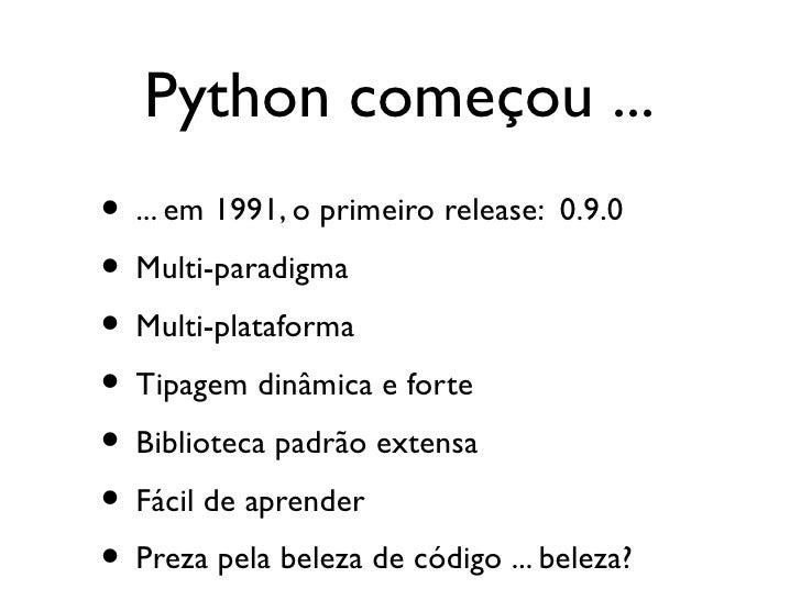 Python - Programando em alto nível Slide 3