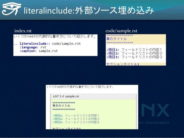 執筆用に作ったSphinxの拡張  rst2shuwa   秀和システム原稿  フォーマットでビ  ルド   make shuwa ------->  3年前の資産!  (やっと元が取れそ  う)  (Pythonプロフェッショナルプログラ...