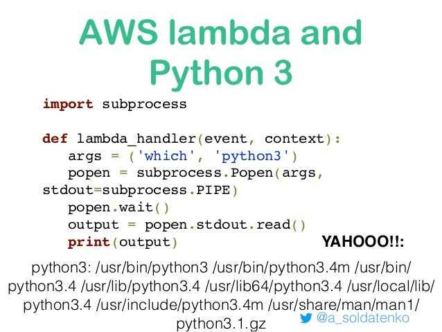 Building Serverless applications with Python