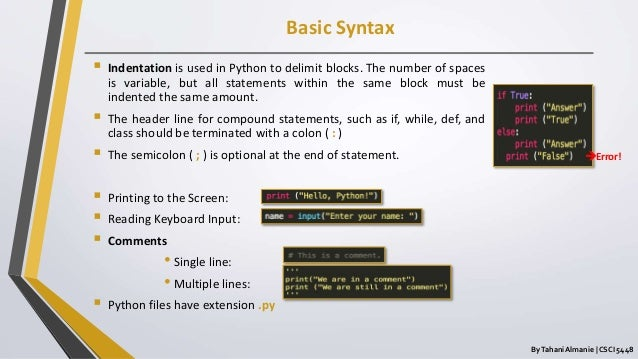 Python 3 Programming Language