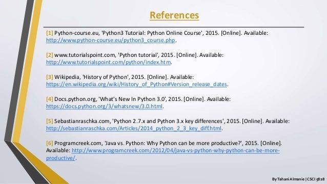 Python 3 Programming Language
