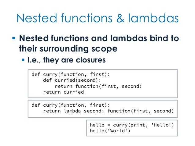 Nested Functions Amp Lambdas