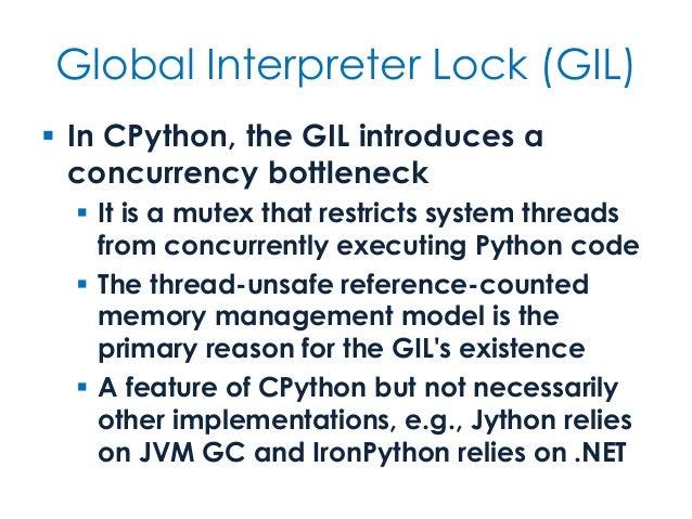 Global interpreter lock gil fandeluxe Choice Image