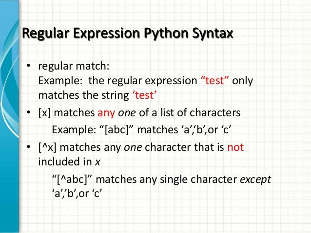 Python Advanced 2 Regular Expression In Python