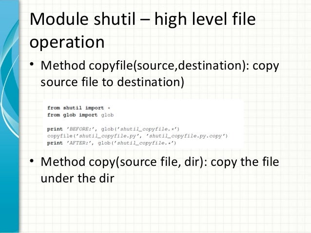How to copy and move files with Shutil.