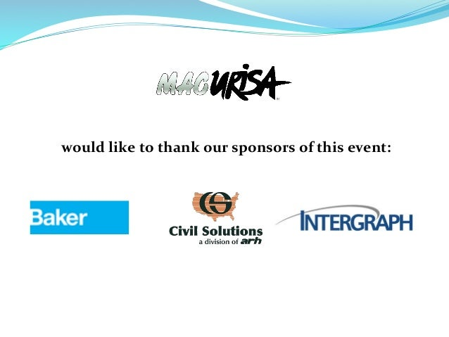 would	   like	   to	   thank	   our	   sponsors	   of	   this	   event: