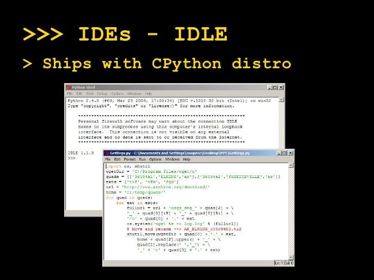 Python And GIS - Beyond Modelbuilder And Pythonwin
