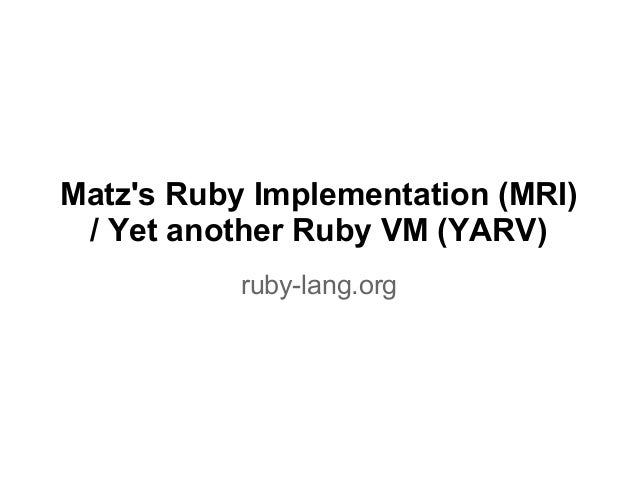 python and ruby vms