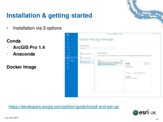 Introducing the ArcGIS API for Python - Training - Esri UK Annual Con…